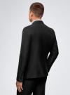 Пиджак приталенный с атласными лацканами oodji для мужчины (черный), 2L420212M/47307N/2900N - вид 3