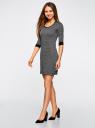 Платье жаккардовое с геометрическим узором oodji #SECTION_NAME# (серый), 14001064-6/35468/2912J - вид 6