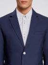 Пиджак приталенный с накладными карманами oodji #SECTION_NAME# (синий), 2B510005M/39355N/7500N - вид 4