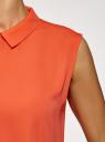 Топ базовый из струящейся ткани oodji #SECTION_NAME# (оранжевый), 14911006-2B/43414/5500N - вид 5