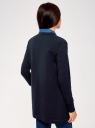 Кардиган трикотажный без застежки oodji для женщины (синий), 19201004B/48033/7900N