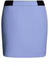 Юбка короткая с отделкой из искусственной кожи oodji #SECTION_NAME# (фиолетовый), 11601179-10/46415/7500N