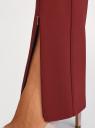 Брюки зауженные с высокой талией oodji для женщины (красный), 11705021/49767/4900N