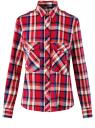 Рубашка с нагрудными карманами oodji для женщины (красный), 13L11006-1B/42850/4575C