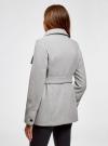 Пальто с поясом и асимметричной застежкой oodji для женщины (серый), 10104041-2/43442/2000M - вид 3
