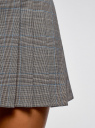 Юбка короткая в складку oodji для женщины (серый), 11606034-4/46961/2912O