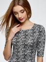 Платье трикотажное облегающее oodji #SECTION_NAME# (серый), 14001121-3B/16300/1029L - вид 4