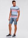 Шорты джинсовые с потертостями oodji #SECTION_NAME# (синий), 6B220013M/35771/7401W - вид 6