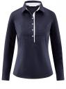 Рубашка приталенная с нагрудными карманами oodji #SECTION_NAME# (синий), 11403222-3/42468/7900N