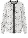Блузка из вискозы с контрастной отделкой oodji #SECTION_NAME# (белый), 11411059-6B/48756/3029Q