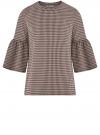 Блузка с воланами на рукавах oodji #SECTION_NAME# (розовый), 14201527-2/49746/5429C