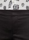 Брюки укороченные на эластичном поясе oodji для женщины (черный), 11706203-1/19887/2900N - вид 5
