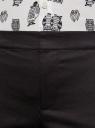 Брюки укороченные на эластичном поясе oodji для женщины (черный), 11706203-1/19887/2900N