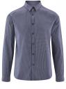 Рубашка принтованная из хлопка oodji #SECTION_NAME# (синий), 3L110308M/19370N/7510F
