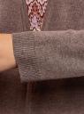 Кардиган вязаный без застежки oodji #SECTION_NAME# (коричневый), 63212581-1B/46629/3900M - вид 5