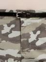 Брюки-чиносы хлопковые oodji для женщины (зеленый), 11706193B/42841/6025O