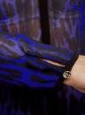 Блузка из струящейся ткани с контрастной отделкой oodji #SECTION_NAME# (синий), 11411059-2/38375/7829A - вид 5