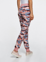 Брюки трикотажные на завязках oodji #SECTION_NAME# (розовый), 16701042-1/46919/2354O - вид 3