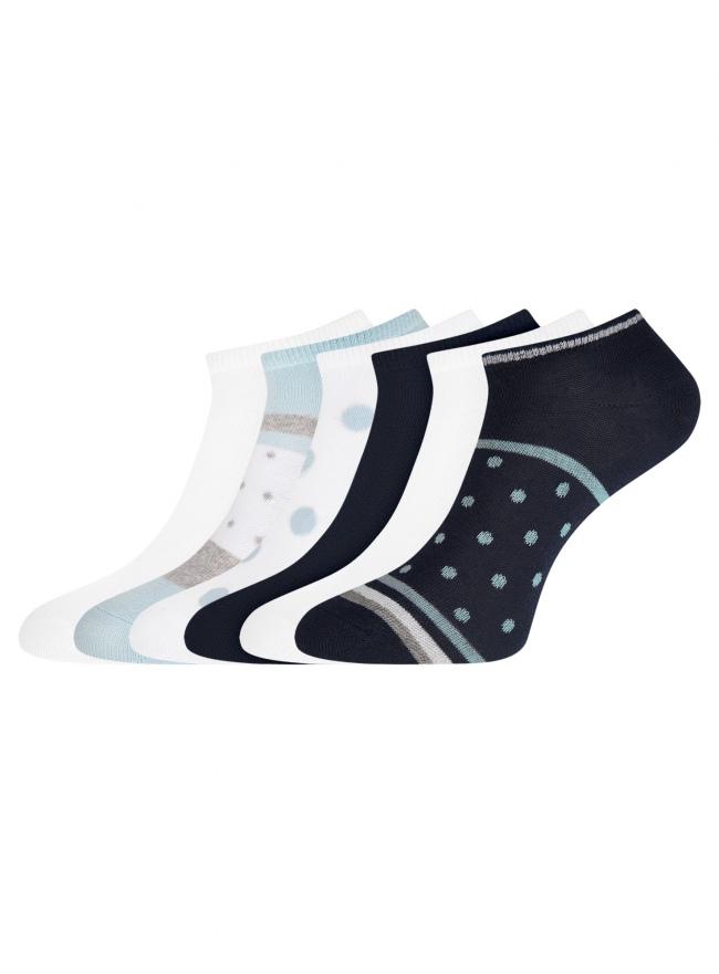 Комплект укороченных носков (6 пар) oodji для женщины (разноцветный), 57102433T6/47469/80