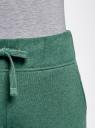 Брюки трикотажные спортивные oodji для женщины (зеленый), 16700030-15B/47906/6D00M