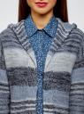 Кардиган полосатый с капюшоном oodji #SECTION_NAME# (синий), 63205244/46133/7479S - вид 4