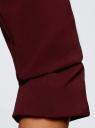 Жакет приталенный с рукавом 3/4 oodji для женщины (красный), 11204014B/42250/4901N