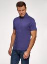 Рубашка базовая с коротким рукавом oodji #SECTION_NAME# (синий), 3B240000M/34146N/7801N - вид 2