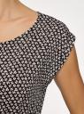 Платье вискозное без рукавов oodji #SECTION_NAME# (черный), 11910073B/26346/2912G - вид 5