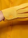 Блузка базовая из вискозы oodji #SECTION_NAME# (желтый), 11411136B/26346/5200N - вид 5