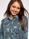 Блузка прямого силуэта с нагрудным карманом oodji #SECTION_NAME# (синий), 11411134-1B/48853/7973E - вид 4