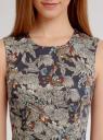 Платье хлопковое с принтом oodji для женщины (черный), 11900128-2B/14522/2919F