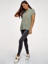 Блузка из вискозы с нагрудными карманами oodji #SECTION_NAME# (зеленый), 11400391-5B/48756/6000N - вид 6