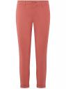 Брюки-чиносы хлопковые oodji для женщины (розовый), 11706207B/32887/4B01N
