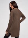 Кардиган без застежки с карманами oodji для женщины (коричневый), 63212589/45904/3900M - вид 3
