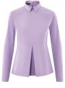 Блузка хлопковая с баской oodji #SECTION_NAME# (фиолетовый), 13K00001-1B/42083/8000N