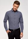 Рубашка принтованная из хлопка oodji #SECTION_NAME# (синий), 3L110308M/19370N/7510F - вид 2