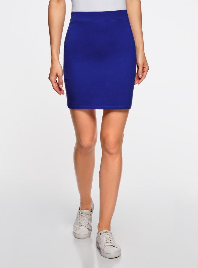 Комплект трикотажных юбок (3 штуки) oodji для женщины (синий), 14101001T3/46159/7500N