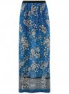 Юбка макси из струящейся ткани oodji #SECTION_NAME# (синий), 13G00002-3B/42816/7540F