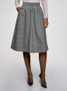 Юбка A-образного силуэта с карманами oodji для женщины (серый), 11600420-4/48496/1229C