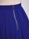 Юбка со складками из струящейся ткани oodji #SECTION_NAME# (синий), 21600285-2B/17358/7500N - вид 5
