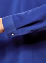 Блузка с вырезом-капелькой и металлическим декором oodji #SECTION_NAME# (синий), 21400396/38580/7500N - вид 5