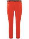 Брюки-чиносы базовые oodji для женщины (красный), 11705015B/42841/4500N