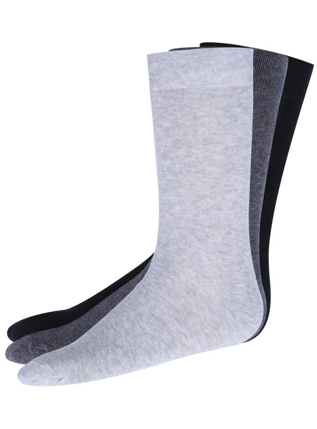 Носки высокие (комплект из 3 пар) oodji #SECTION_NAME# (разноцветный), 7B230002M/16859N/2329N