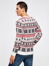 Джемпер прямого силуэта с рождественским узором oodji #SECTION_NAME# (разноцветный), 4L110044M/25365N/4579J - вид 3