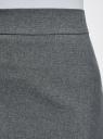 Юбка короткая базовая oodji #SECTION_NAME# (серый), 11600399-1B/14917/2500M - вид 5