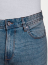 Джинсы базовые с потертостями oodji для мужчины (синий), 6B120061M/45068/7401W