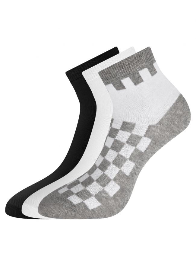 Комплект из трех пар укороченных носков oodji для женщины (разноцветный), 57102418T3/47469/36