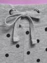 Брюки трикотажные на завязках oodji #SECTION_NAME# (серый), 16701042/46919/2329D - вид 4