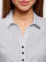 Блузка принтованная из легкой ткани oodji #SECTION_NAME# (белый), 21407022-9/12836/1029D - вид 4