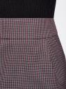 Юбка короткая с карманами oodji #SECTION_NAME# (фиолетовый), 11605056-2B/22124/2349C - вид 4
